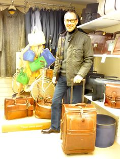 'The Boss', Jim Luck, with just a selection from our huge range of bags, purses, wallets, luggage and accessories from The Bridge. Classic Italian leather, designed to suit every occasion and made to last... available online or in-store from Luck of Louth. Classic Italian, Briefcase, Italian Leather, Style Ideas, Wallets, Have Fun, Bridge, Boss, Purses