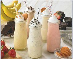 Milkshakes in milk bottles!