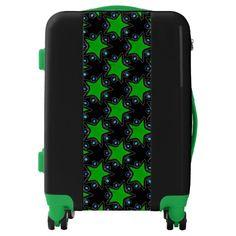 Green Star Pattern Luggage
