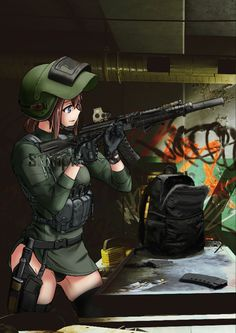 Anime Military, Military Girl, Manga Anime Girl, Anime Art, Guerra Anime, Army Uniform, Girls Frontline, Apocalypse, Neko
