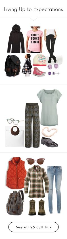 """Living Up to Expectations"" by mountain-girl-lynn ❤ liked on Polyvore featuring Old Navy, SignatureTshirts, JustFab, Converse, Allurez, Michael Kors, Hiho Silver, Arc'teryx, Bottega Veneta and Bella Vita"