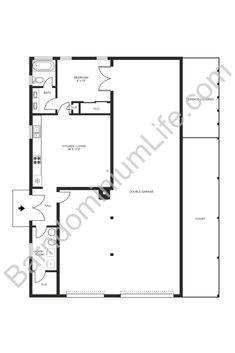 The 5 Best Barndominium Shop Plans with Living Quarters Garage Apartment Floor Plans, Garage Plans With Loft, Garage Floor Plans, Barndominium Floor Plans, Pole Building Plans, Metal Shop Building, Steel Building Homes, One Bedroom House Plans, Shop House Plans