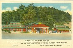 Chattanooga, TN Glendale Tourist Court on Tennessee 8  1949
