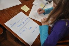 writing thank you notes - ideas for all ages