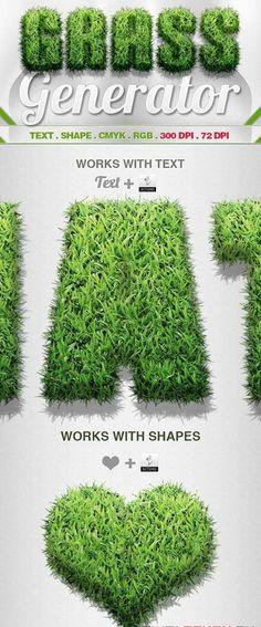 Efecto de hierba y cesped para photoshop