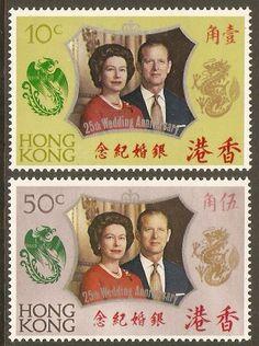 Hong Kong 1972 Silver Wedding Set.