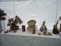 Teelichtofen, Seifenschalen, Vase + Baum