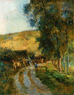Road In The Valle de L'Iton - Albert Lebourg