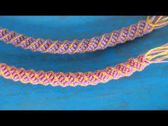 pulseras de hilos | macrame tubular paso a paso - YouTube