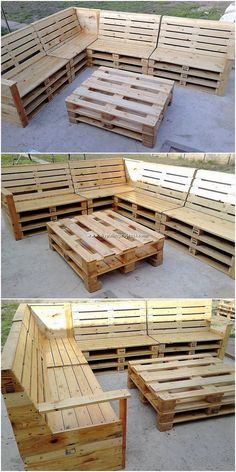 Outdoor couch and table design will continuously appear to be enthralling when they are composed with the extremely good wood work body composition in it. That is what our next wooden pallet idea is a Pallet Garden Furniture, Diy Outdoor Furniture, Diy Furniture, Barbie Furniture, Furniture Design, Furniture Projects, Garden Pallet, Pallet Couch Outdoor, Making Pallet Furniture