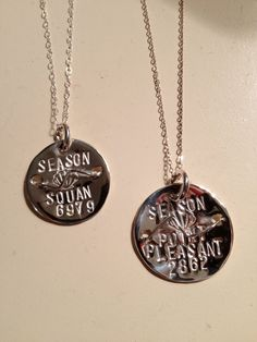 Entirely handmade, sterling silver beach badge necklace made custom to whatever beach and badge number you choose; special dates, sports