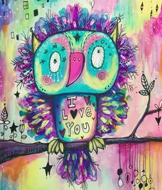 """Meet LoveBird he loves everyone and everything including Brussel sprouts and the song """"ice ice baby"""". He loves you because he sees your heart and shiny soul. Consider yourself hugged by LoveBird today. :) #quirkybirds #willowing #willowingarts #mixedmediaart #illustration #tamfb #youareloved"""