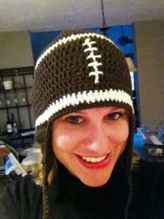 Since it is Super Bowl today thought it was time to share my talents! My niece in her football hat!