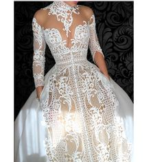 J'Aton Couture | Beautiful Wedding Gown with pockets. #jatoncouture