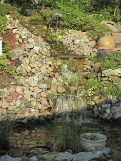 The waterfall into Mark's 1st pond!