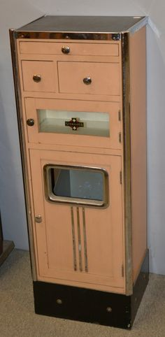 ART DECO WOOD AND CHROME MEDICAL CABINET