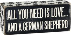 German Shepherd Block $7.95