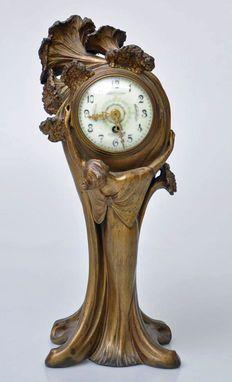 Bronzen Art Nouveau klok
