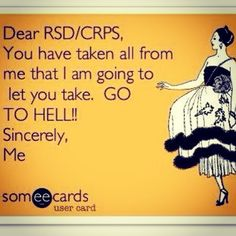 I'm having a tough #chronicpain day today. This made me laugh! Hang in there, fellow #CRPS friends.