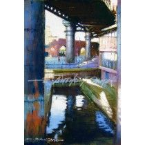UNDER THE BRIDGE - CASTLEFIELD MANCHESTER Fine Art Print from a painting by E Anthony Orme
