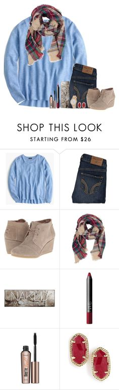 """I'd rather be somewhere with you."" by bloom17 ❤ liked on Polyvore featuring J.Crew, Hollister Co., TOMS, Urban Decay, NARS Cosmetics, Benefit, Kendra Scott and Kate Spade"