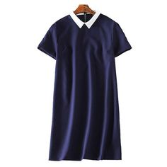 Navy Dress with Collar
