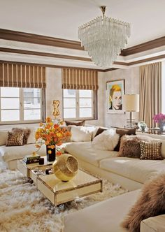 Moderne Raffrollos interior design ideas of living room sets with luxury furniture