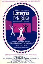 Laterna magika in Carbegie Hall. Golden 60s