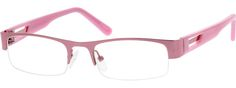 Women's Pink 5382 Stainless Steel Half-Rim Frame with Acetate Temples and Spring Hinges | Zenni Optical Glasses-7qxs4bRd