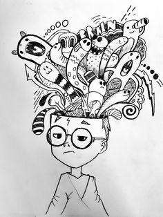 Simply – Graffiti World Cute Doodle Art, Doodle Art Designs, Doodle Art Drawing, Art Drawings Sketches, Cute Drawings, Doodle Sketch, Doodle Art Letters, Love Doodles, Kawaii Doodles