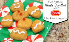 A very festive way to serve chicken nuggets for kids!