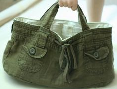 How To Turn Shorts Into A Bag Such A Cute Idea   The WHOot