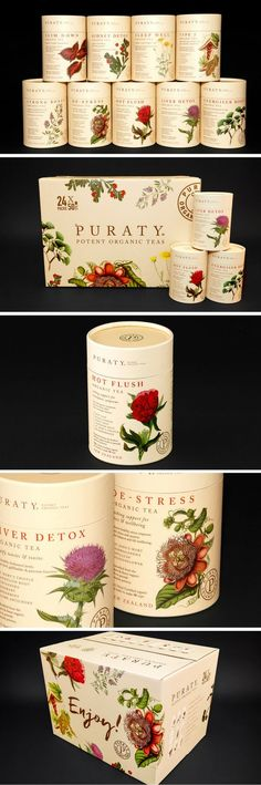 Puraty Organic Tea Packaging by Redfire | Fivestar Branding Agency – Design and Branding Agency & Curated Inspiration Gallery