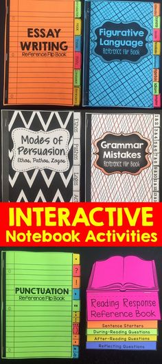 This English Language Arts interactive notebook bundle can be used as writing skills mini-lessons throughout the year and are a perfect addition to an existing interactive notebook or perhaps the start of a new one. Teaching Writing, Writing Skills, Teaching English, Essay Writing, Education English, Writing Lab, Teaching Themes, Writing Ideas, 6th Grade Writing