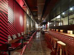 """""""Mejico"""" Mexican Restaurant with Pops of Neon Color by Juicy Design"""