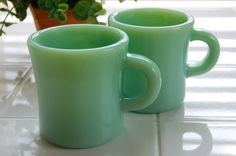 Fire King Jade-ite EX-heavy mug scored one of these yesterday, my first piece of jadeite for 50 cents!
