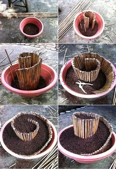 How to Make Mini Spiral Garden