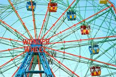 Wonder Wheel Coney Island NYC by PacificStreetPhotos on Etsy