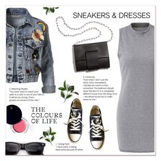 """""""Sneakers &Dresses"""" by ladydzsen ❤ liked on Polyvore featuring Converse, Clé de Peau Beauté, Alice + Olivia, MM6 Maison Margiela and SNEAKERSANDDRESSES"""