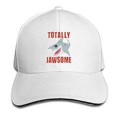 2761923ecbcc AMAZON  12.01 ONE-HEARTHR Adult Totally Jawsome Cotton Lightweight  Adjustable Peaked Baseball Cap Sandwich Hat Men Women