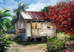 trinidad artists paintings | Trinidad Life 1 Print By Karin Best