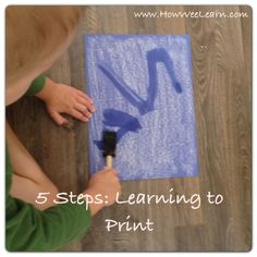 FABULOUS RESOURCE for parents of preschoolers! Written by a Kindergarten teacher - learning to print a name!