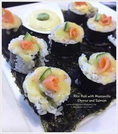 Perfect Italiano Masterclass by Chef Lino Sauro  ~ Rice Roll with Mozzarella Cheese and Salmon