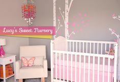 Sweet Girl Nursery | Featured on Chic & Cheap Nursery