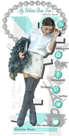 Creazione grafica Layout blog WordPress + Menu Social Network  #moda #fashion