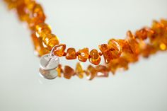 Amber teething necklace - personalized baby necklace - healing remedy - natural analgesic - baltic amber necklace - golden
