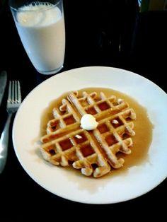 I always eat waffles:D♡