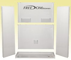 """This 54""""x31"""" 5 piece barrier free shower will fit into the ..."""