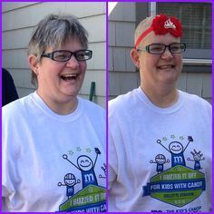 Want to Buzz it Off but can't make it to a One Mission event? Shave on your own, any day, any time like our hero, Leslie! Go to buzzforkids.org to learn more #BuzzforKids #WhateverItTakes #baldisbeautiful