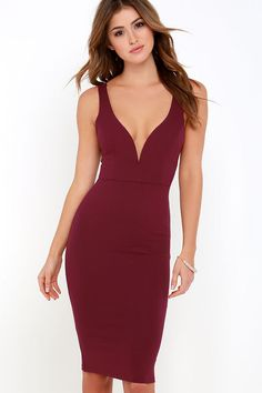 Gracefully Yours Burgundy Dress at Lulus.com!